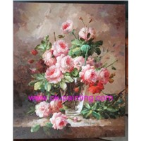 oil painting, still life oil painting, flower oil painting