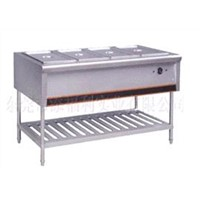 stainless steel food warmer cabinet with 4 pans