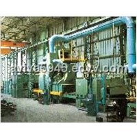 Q69 steel plate shot blasting machine