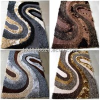 Polyester Mixed-Pile Shaggy Rug