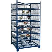OEM, ODM, garden rack, display rack, flower carts,blue net cart with no caster HA20