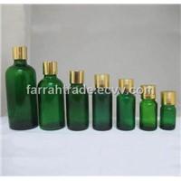 5-100ml Green Molded Glass Essential Oil Bottles