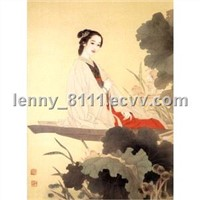 Cloisonne Painting-China Lady