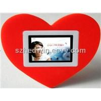 "2.4"" Digital Photo Frame - Red Heart"