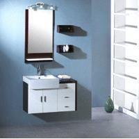 Bathroom Vanity cabinet mordern style ceramic sink
