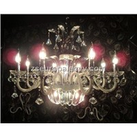 Asfour Crystal Pendant Lamp w 8 Lights Chandelier 8033-8