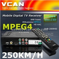 DVB-T Receiver with MPEG-4,HE-AAC,H.264,250KM/H