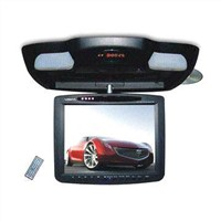 Flip Down DVD Player with 12V DC Operating Power and Built-in Dual Speakers
