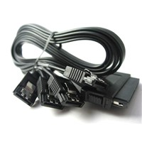 Green Connection SAS Controller 32Pin to 4 x SATA HDD Splitter Cable / Cable Splitter