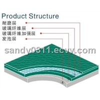 pvc spoers flooring