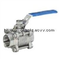 3 Piece Ball Valve with Lock
