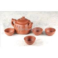 Chinese Tea Pot / Yixing Zisha Clay (purple clay) Teapot / Kung Fu Tea Set