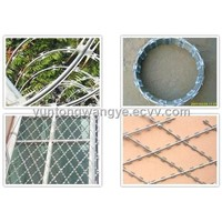 Straight Razor Wire Fence