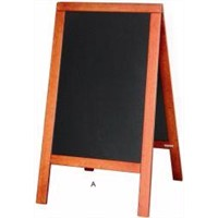Wood Stand with Chalkboard