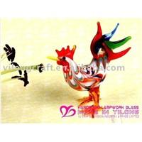 murano glass lucky decoration(cock)