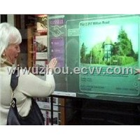 rear projection screen foil for touch screen