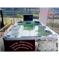 Middle Swimming Pool with Hot Tub And Jacuzzi (SR851)