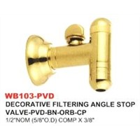 Decorative Tering Angle Stop Valve