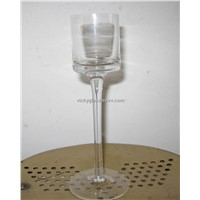 Clear Glass Candleholder