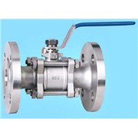 3 PC Full Bore Stainless Steel Flanged End Ball Valve