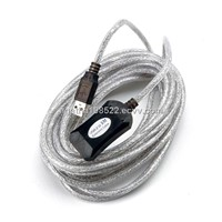 Active USB 2.0 Repeater Extension Cable (5m/16ft)