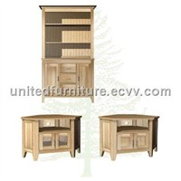 Solid Oak TV Cabinet (UFTVU290 + UFBS290)