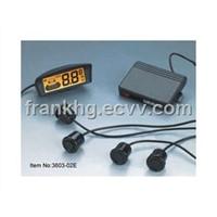 Wireless parking sensor with 4 sensor LCD display