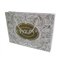 colorfull white card paper bag