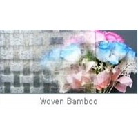 Clear Figured Glass Woven Bamboo