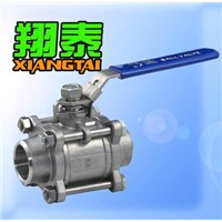 3PCS Butt-Welding Stainless Steel Ball Valve