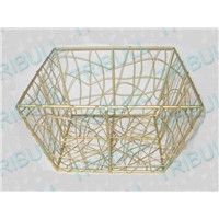 chromed wire basket, mesh basket