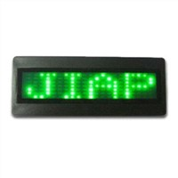 LED Mini Name Badge 3*8cm