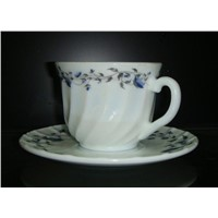 Opal Glassware Coffe/Saucer Set