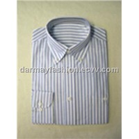 Blue and White Strip Cotton Shirt