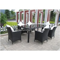 Outdoor Wicker Table and Chair