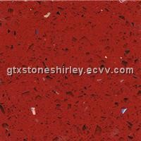 Silver Star Red Engineered Stone