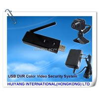 Wireless 1 Mini Camera USB DVR Color Video Security System/Mini DVR