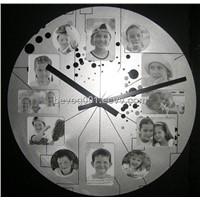Photo Frame Metal Wall Clock