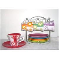 Coffee Mugs and Saucers
