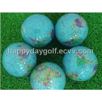 Crystal Golf Ball with Pictured Map