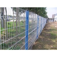 Fence with Peach Post