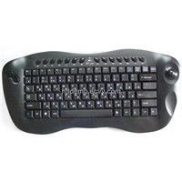 2.4GHz Wireless Multimedia Keyboard with Optical Trackball