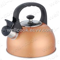 Glass Lid Whistling Kettle