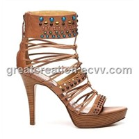 Roma style high-heeled sandals for ladies