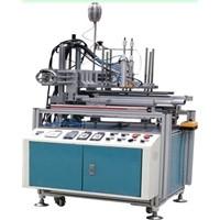 Semi-Auto PVC, PET Tube Shape Packaging Box Making Machine