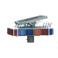 Solar Square Traffic Warning Light