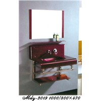 Tempered Glass Wash Room Cabinet
