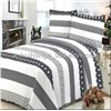 Bedding Striped Patched Quilt Pillow Set, Made of 100% Cotton or 100% Polyester