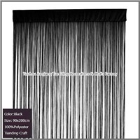 100% Polyester Black String Curtain
