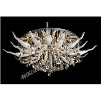 D60cm crystal pendant lamp glass ceiling light engineering lighting hotel light